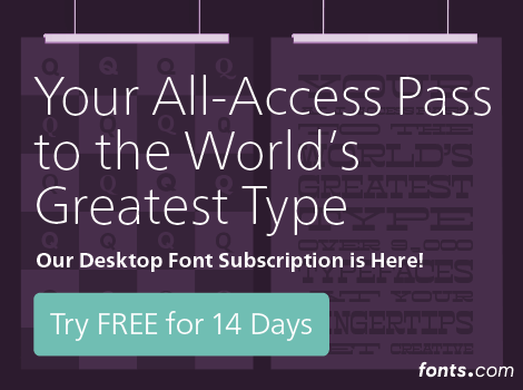fonts.com subscription