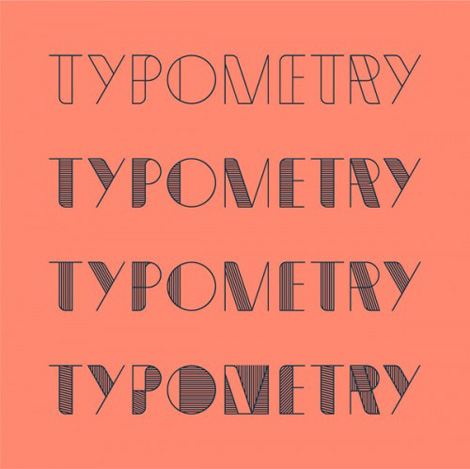 Typometry font by Emil Kozole via grain edit