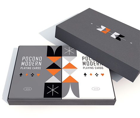 Retro Playing cards by Pocono Modern